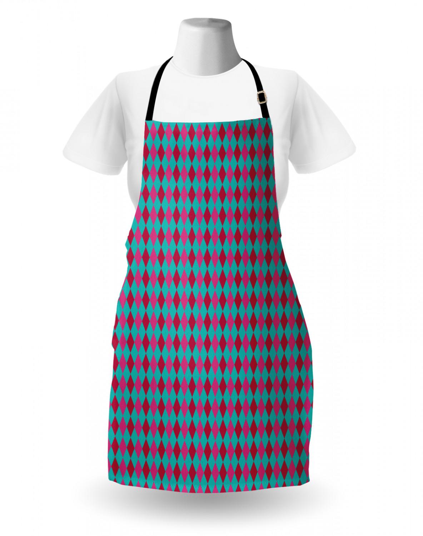 Ambesonne Washable Apron Bib Adjustable Neck Strap for Garden Cooking