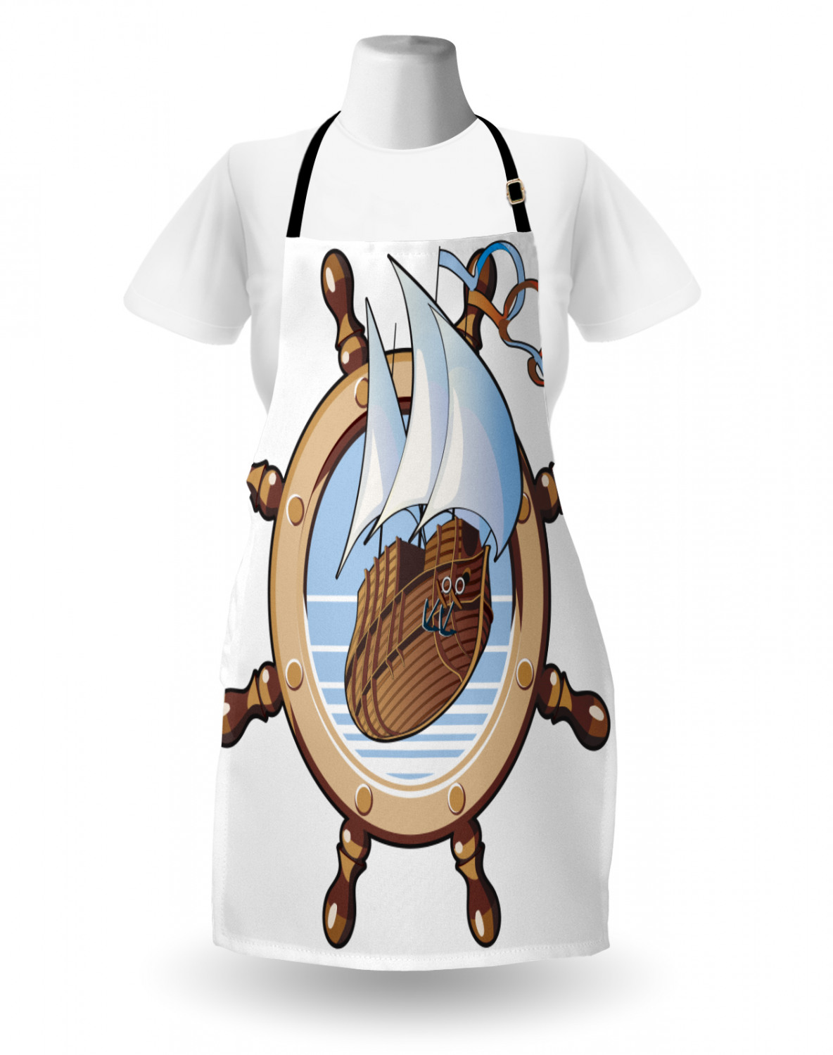 Details about  /Ambesonne Nautical Apron Unisex Kitchen Bib with Adjustable Neck Cooking Baking