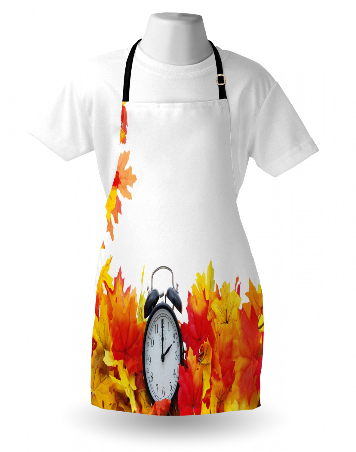 Apron Bib with Adjustable Neck for Cooking Adult Size by Ambesonne