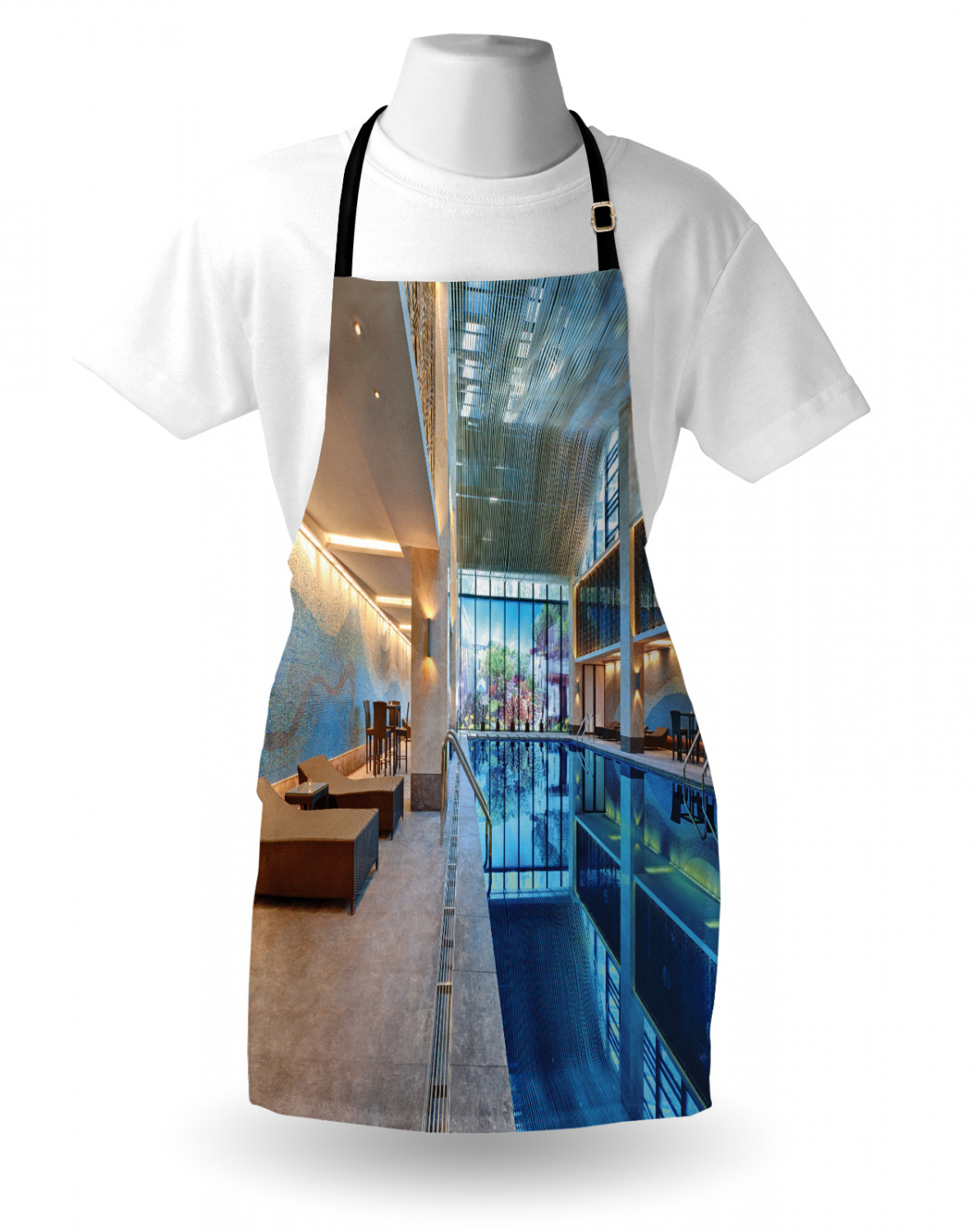 Keep Calm Apron Unisex Kitchen Bib with Adjustable Neck for Cooking Gardening