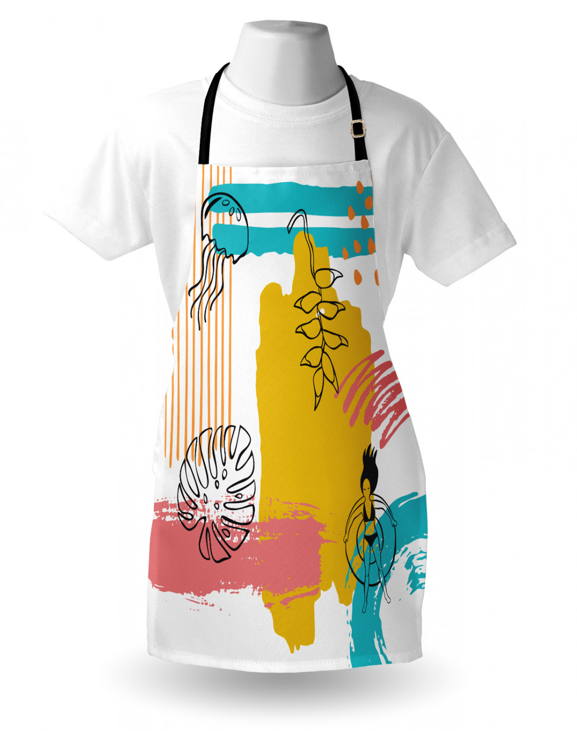 Details about  /Apron Adjustable Neck for Gardening and Cooking Unisex Standard Size Ambesonne