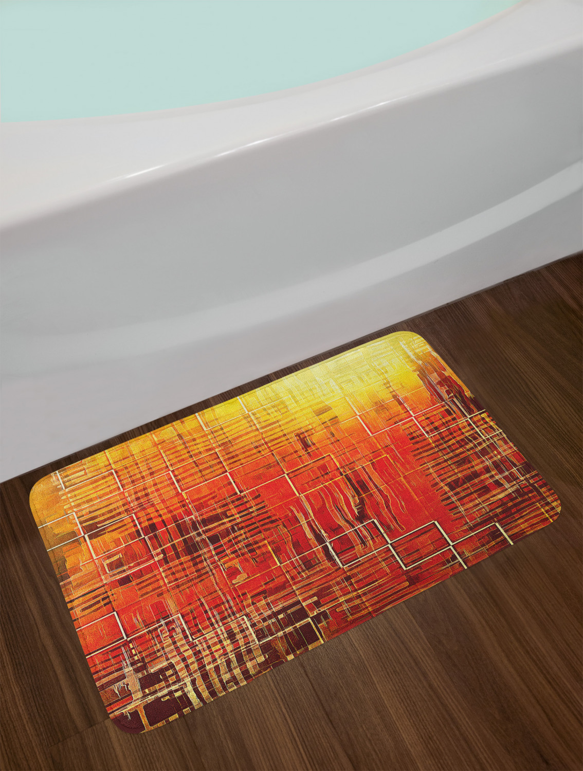 "Tangerine Bath Mat Bathroom Decor Plush Non-Slip Mat 29.5/"" X 17.5/"""