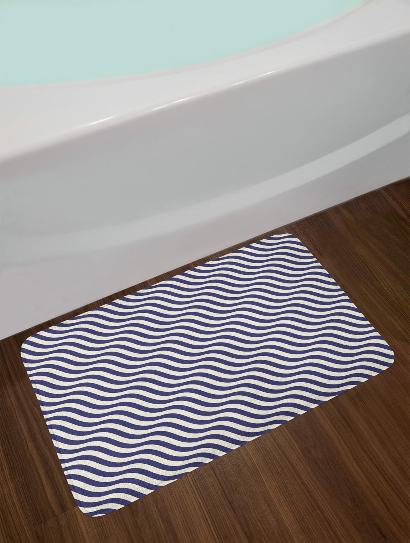 Navy Blue Bath Mat Bathroom Home Decor Plush Non Slip Mat 29 5 X 17 5