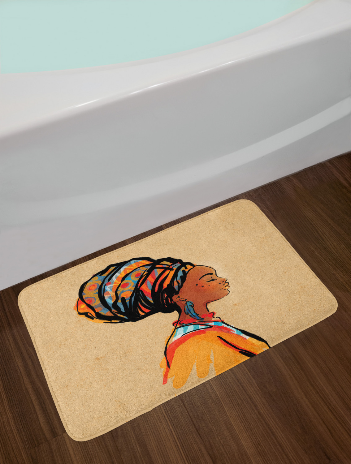 "Africa Bath Mat Bathroom Home Decor Plush Non-Slip Mat 29.5/"" X 17.5/"""