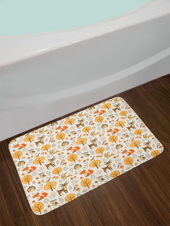 "Vintage Pattern Bath Mat Bathroom Decor Plush Non-Slip Mat 29.5/"" X 17.5/"""