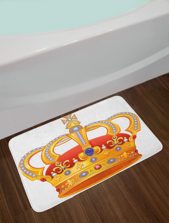 "Details about  /Royalty Bath Mat Bathroom Decor Plush Non-Slip Mat 29.5/"" X 17.5/"" Ambesonne"