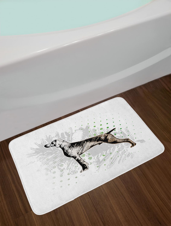 "Hunting Bath Mat Bathroom Decor Plush Non-Slip Mat 29.5/"" X 17.5/"" Ambesonne"