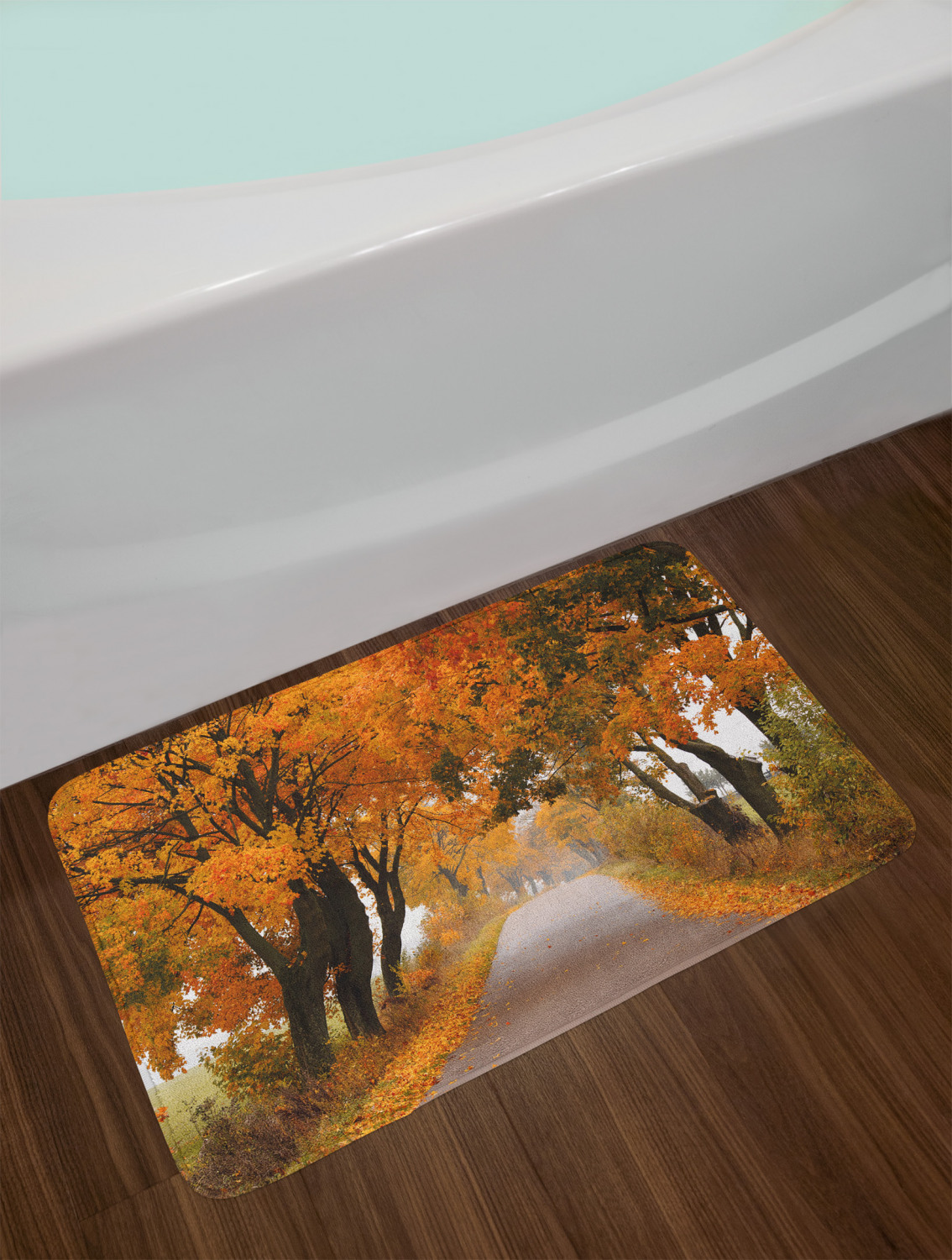"Fall Bath Mat Bathroom Decor Plush Non-Slip Mat 29.5/"" X 17.5/"" Ambesonne"