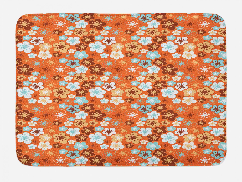 "Warm Colors Bath Mat Bathroom Decor Plush Non-Slip Mat 29.5/"" X 17.5/"" Ambesonne"