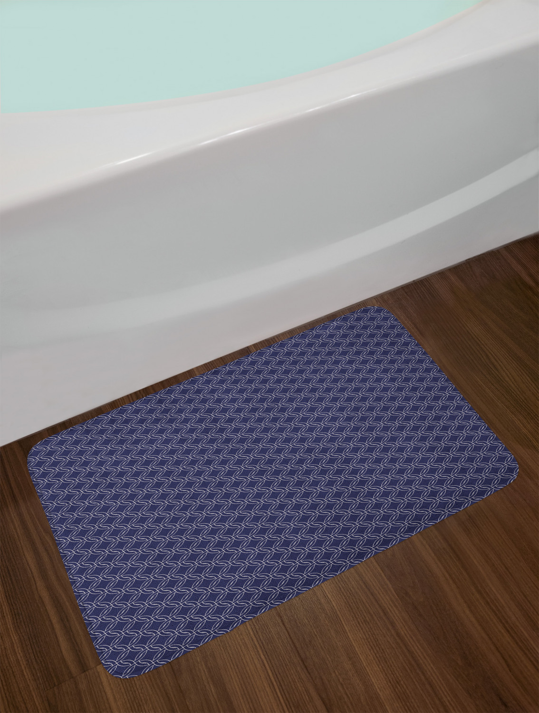 Navy Blue Bath Mat for Bathroom Home Kitchen Decor Plush Non-Slip Mat 29.5X17.5