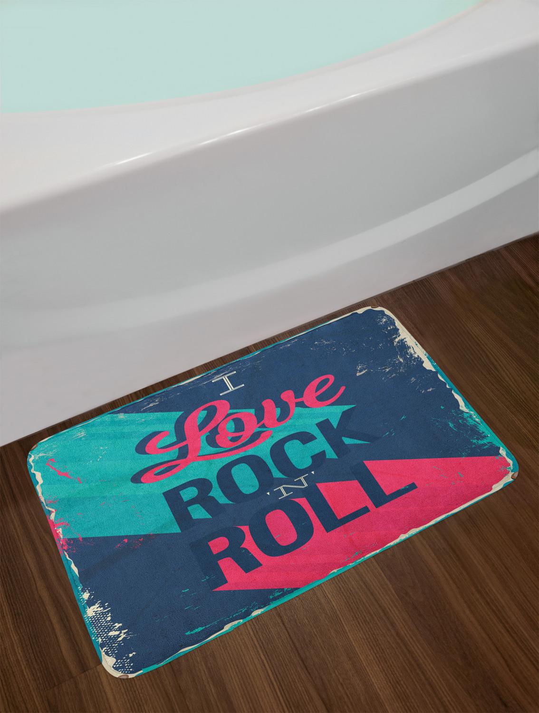 """Rock Music Bath Mat for Bathroom Home Decor Plush Non-Slip Mat 29.5/"""" x 17.5/"""""""