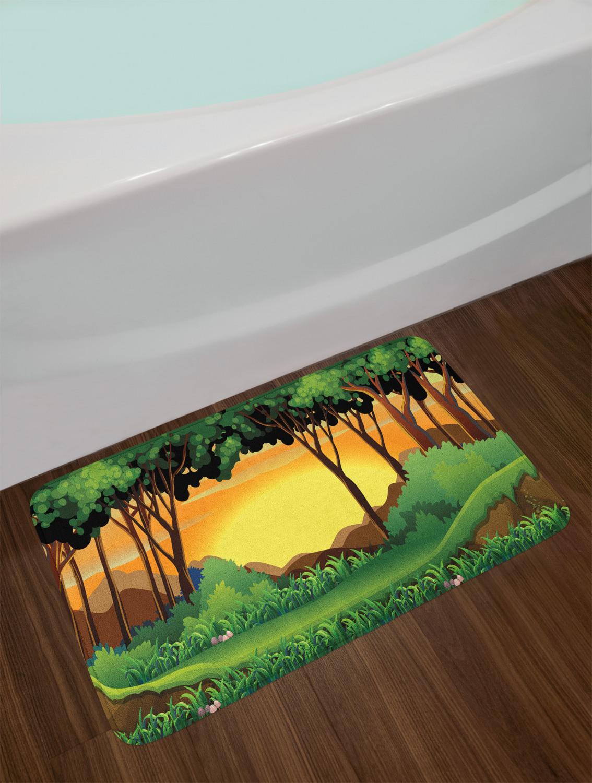 """Details about  /Forest Life Bath Mat Bathroom Decor Plush Non-Slip Mat 29.5/"""" X 17.5/"""""""