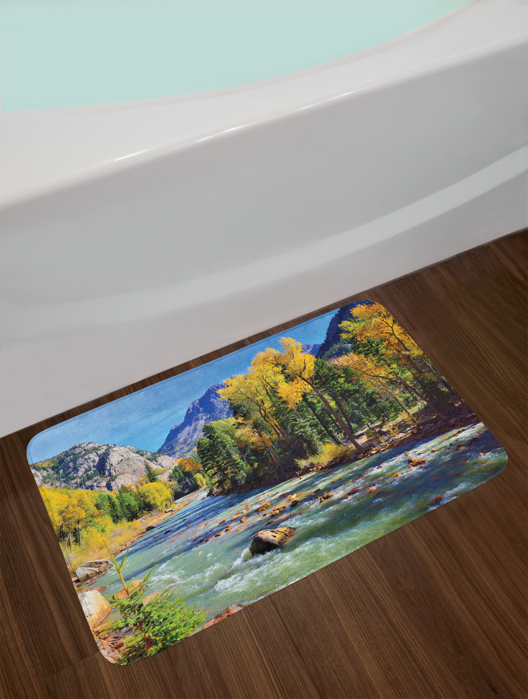 Ambesonne Bath Mat with Non Slip Backing Plush Bathroom Decor