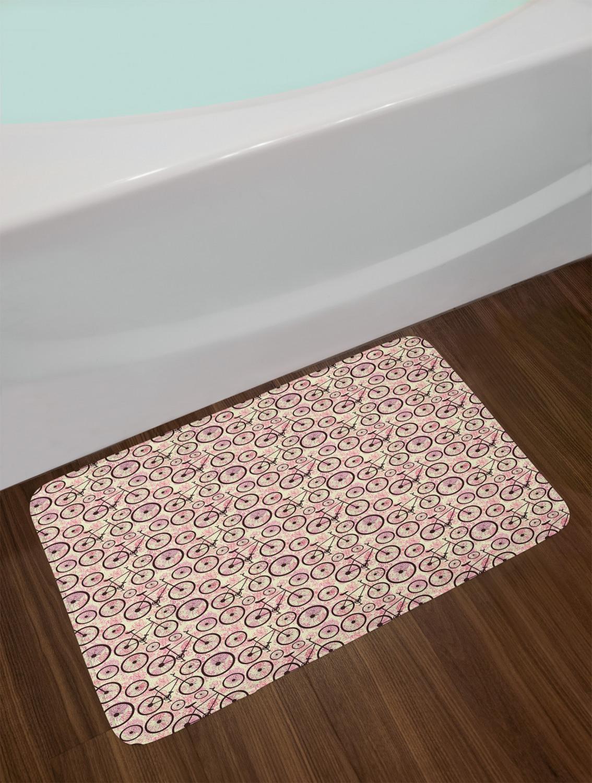 """Bicycle Bath Mat for Bathroom Home Decor Plush Non-Slip Mat 29.5/"""" x 17.5/"""""""