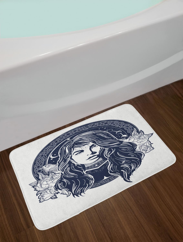 """Modern Tattoo Bath Mat for Bathroom Home Decor Plush Non-Slip Mat 29.5/"""" X 17.5/"""""""