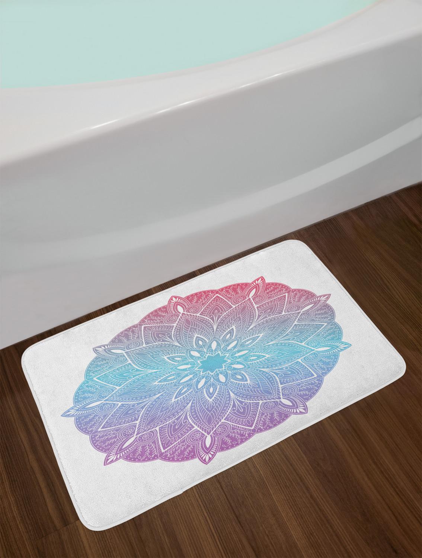 """Ethnic Mandala Bath Mat Bathroom Decor Plush Non-Slip Mat 29.5/"""" X 17.5/"""""""