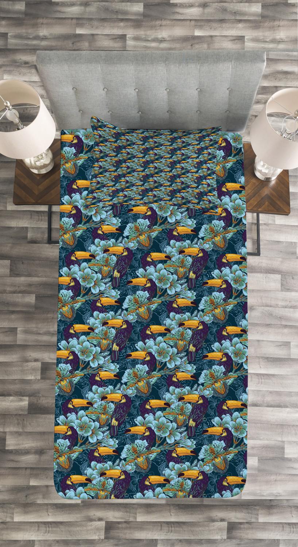 Keel-Billed Toucan Bird Druck Birds Tagesdecke und Kissenbezüge Set