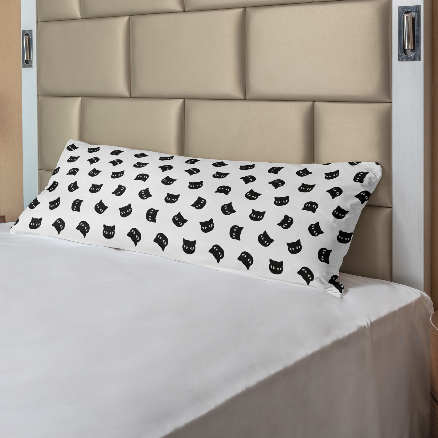 Details about  /Ambesonne Monochrome Body Pillow Case Cover with Zipper Decorative Accent