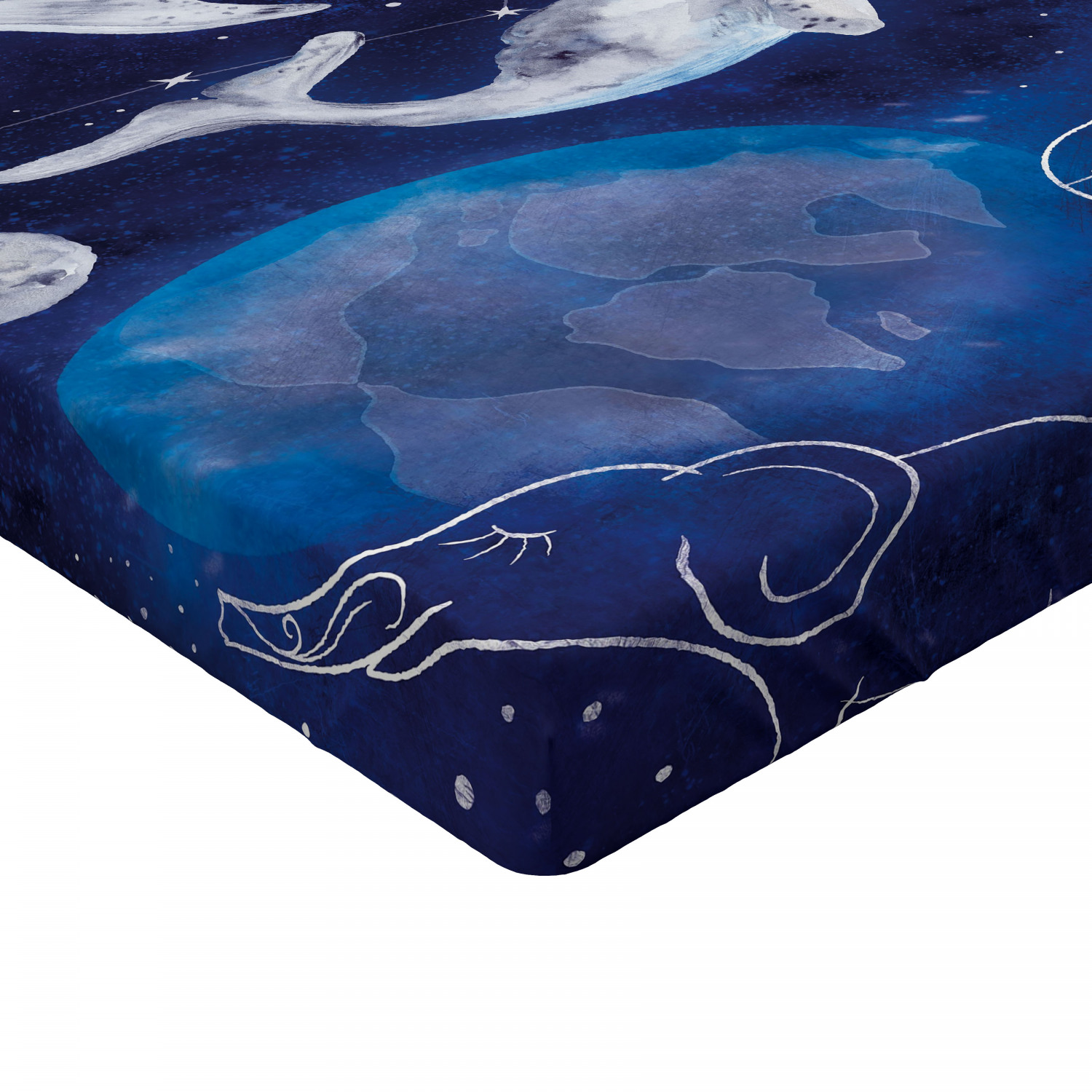 Zodiac Theme Fitted Sheet Cover with All-Round Elastic Pocket in 4 Sizes