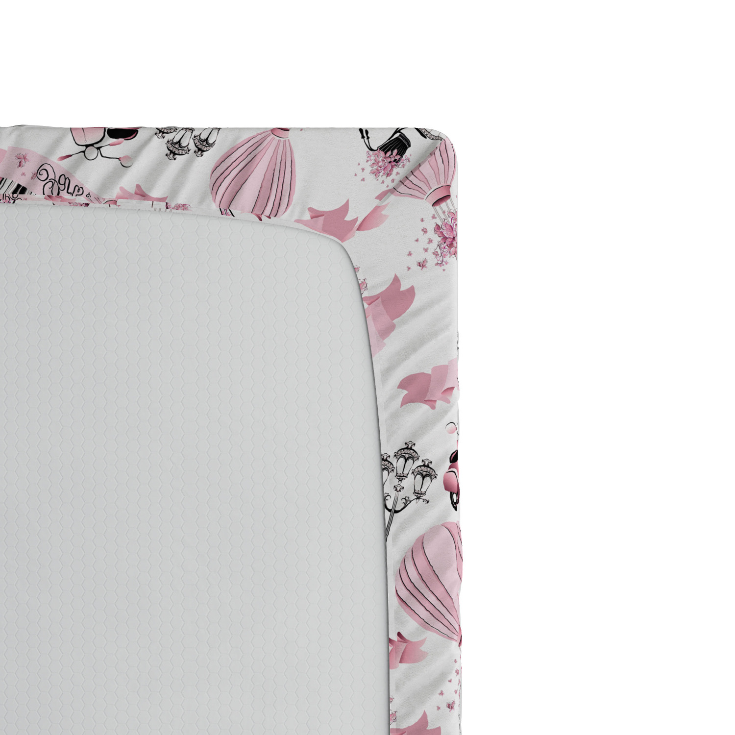 Eiffel Fitted Sheet Cover with All-Round Elastic Pocket in 4 Sizes