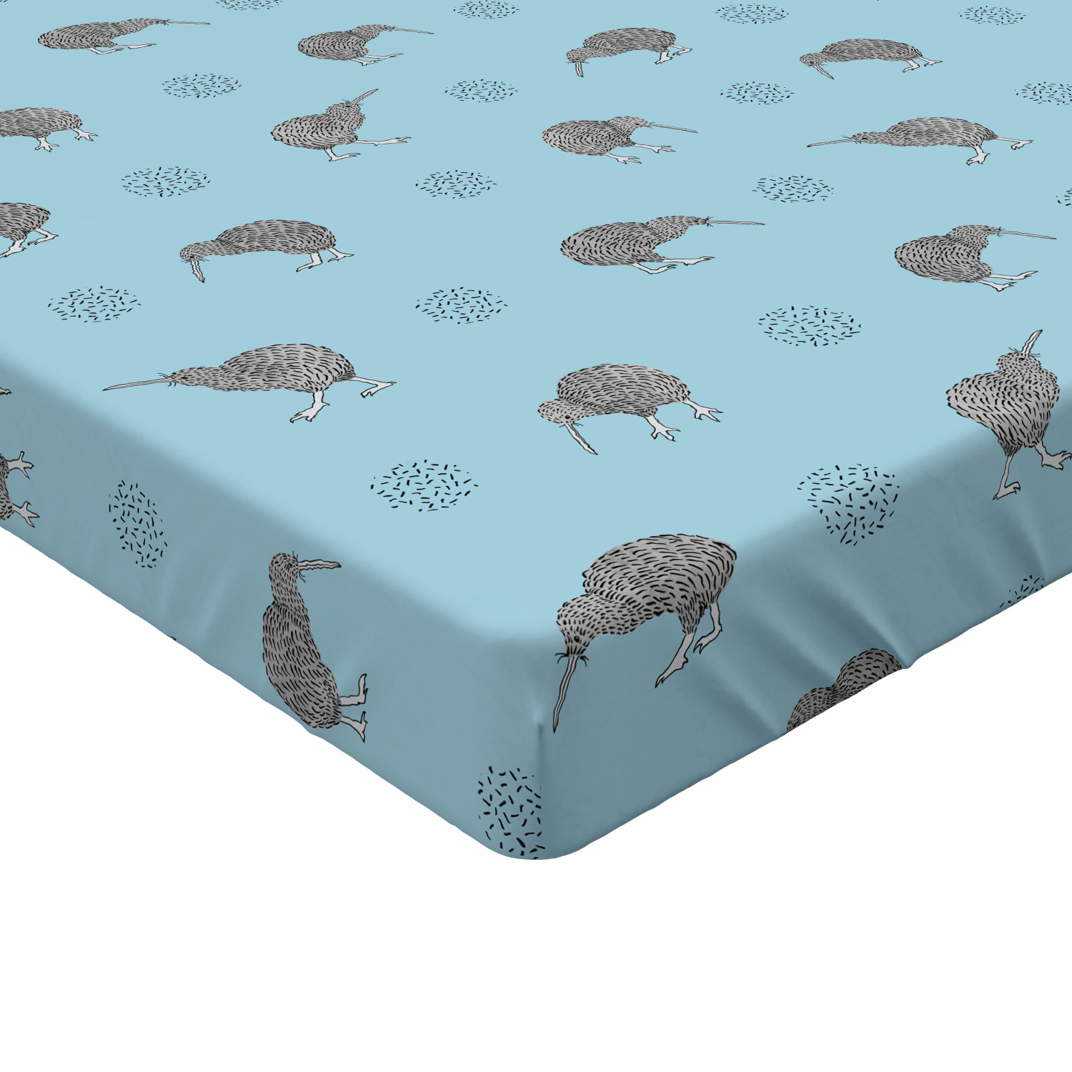 Fitted Sheet Soft Decorative Elastic All Around Pocket by Ambesonne