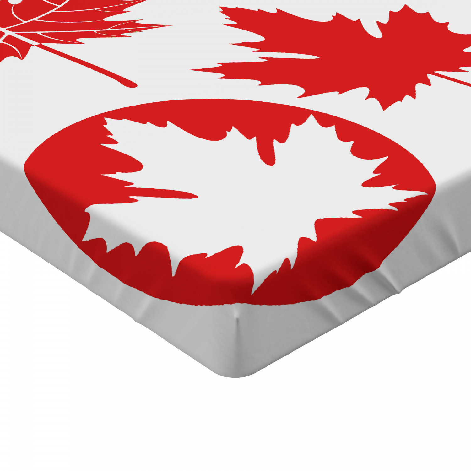 Maple Tree Fitted Sheet Cover with All-Round Elastic Pocket in 4 Sizes