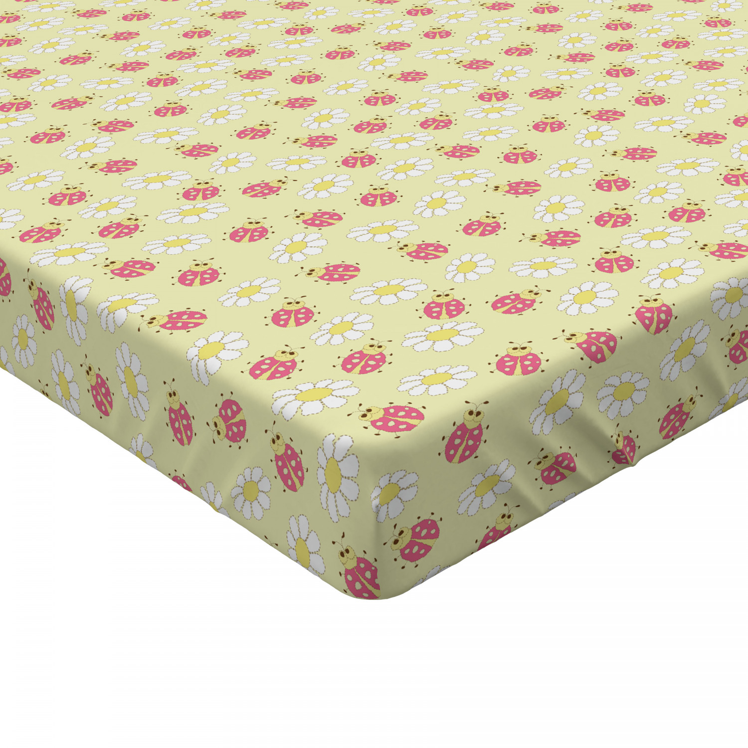 Classic Fabric Fitted Sheet Cover with All-Round Elastic Pocket in 4 Sizes