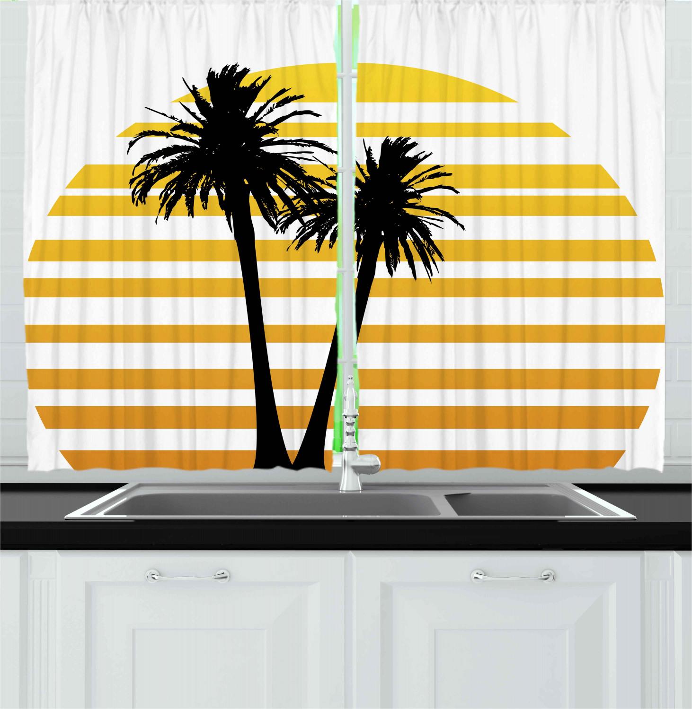 Home Garden Curtains Drapes Valances Retro Style Kitchen 2 Panel Set Window 55 X 39 Ambesonne Visiontechnology Cl