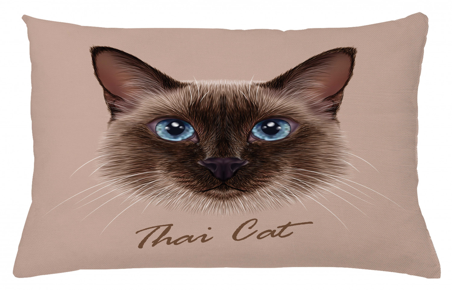 Chat Taie d/'oreiller animal de compagnie Siam Chat Motif recto verso
