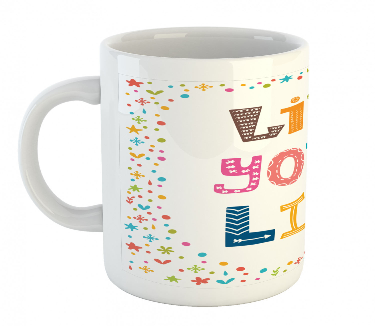 11 oz Details about  /Ambesonne Saying Ceramic Coffee Mug Cup for Water Tea Drinks