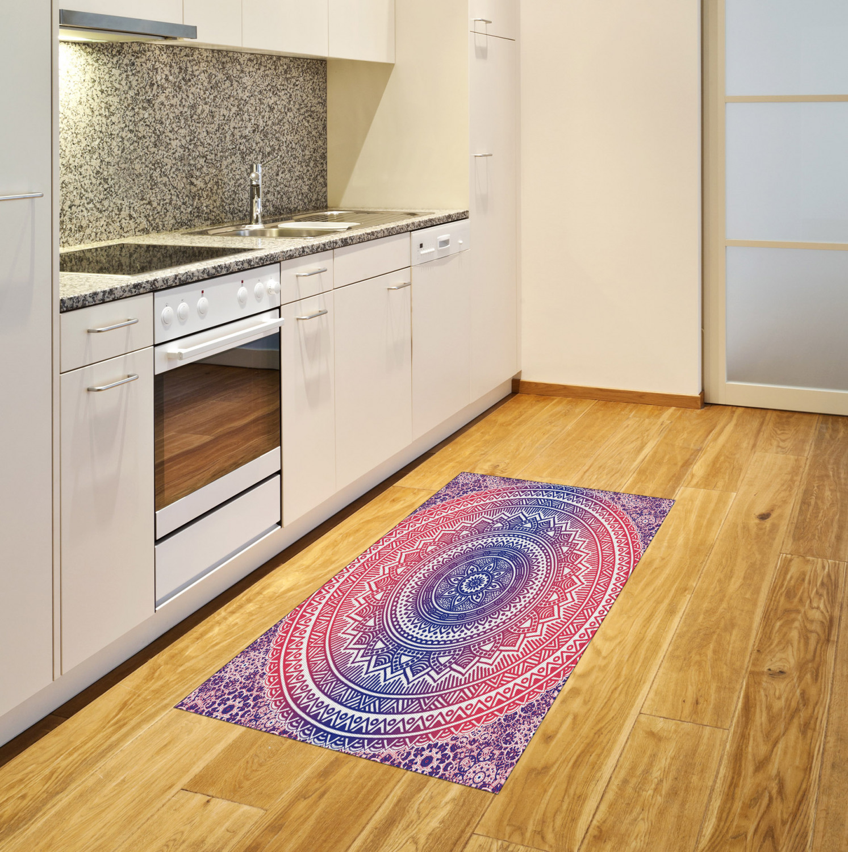 Ombre Mandala Area Rug Decorative Flat Woven Accent Rug Home Decor 2 Sizes