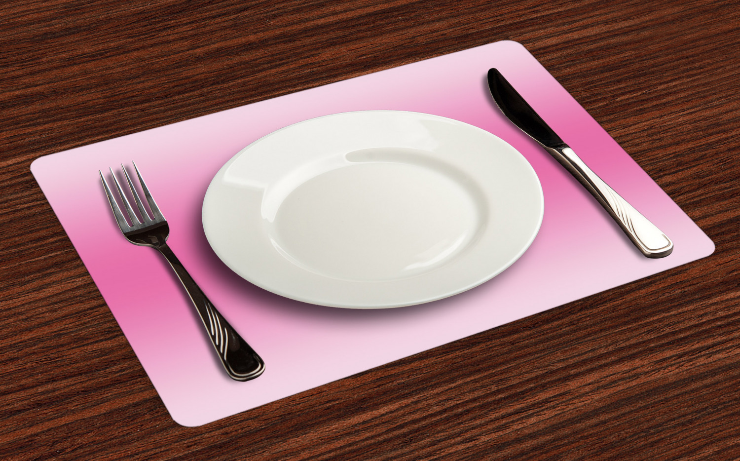 Colorful Ombre Placemats Set of 4 by Ambesonne Washable Fabric Place Mats