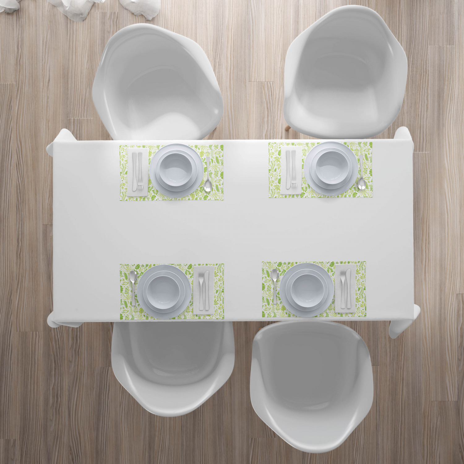 Placemats 4 Piece Set Fabric Dining Room and Kitchen Table Ambesonne