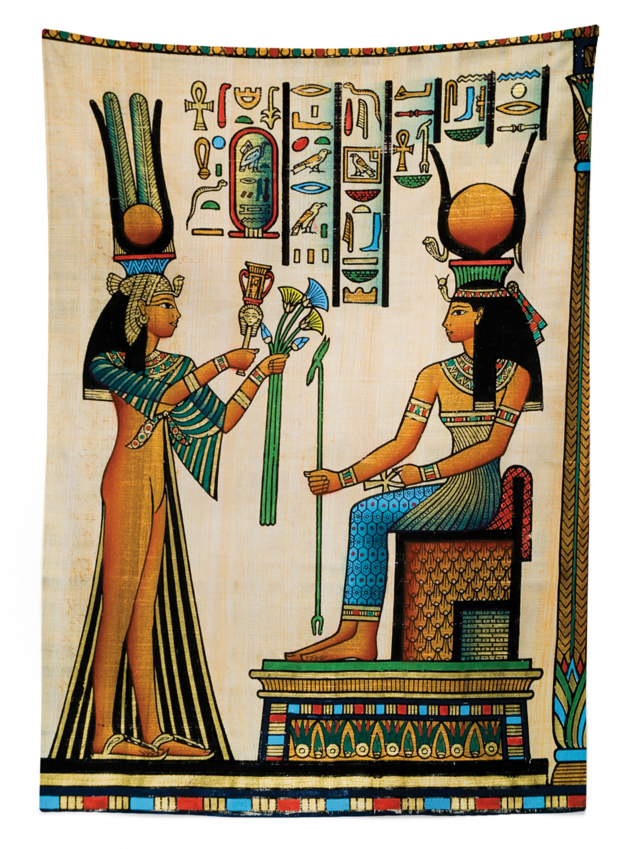 altägyptischen Papyrus lavables ningún palidecen Egipcio mantel