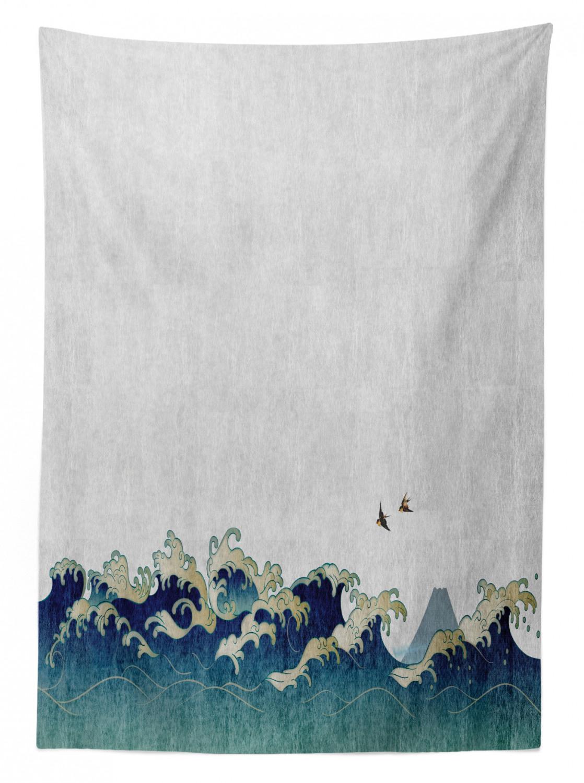 Aquatic-Strudel Wasserfest japanische Welle Tischdecke