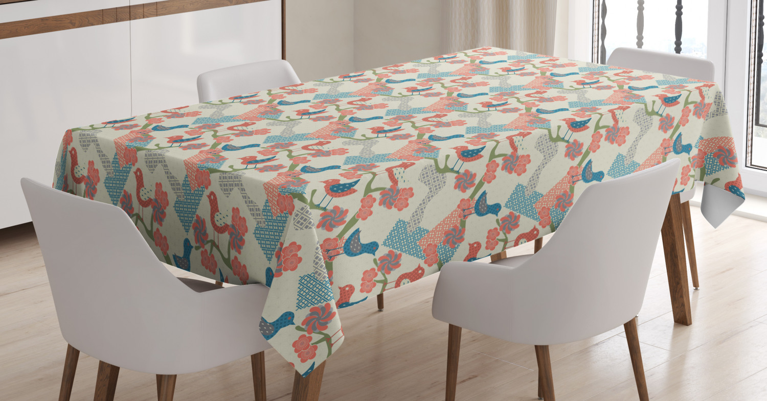 Abstract Art Tablecloth by Ambesonne 3 Sizes Rectangular Table Cover Decoration