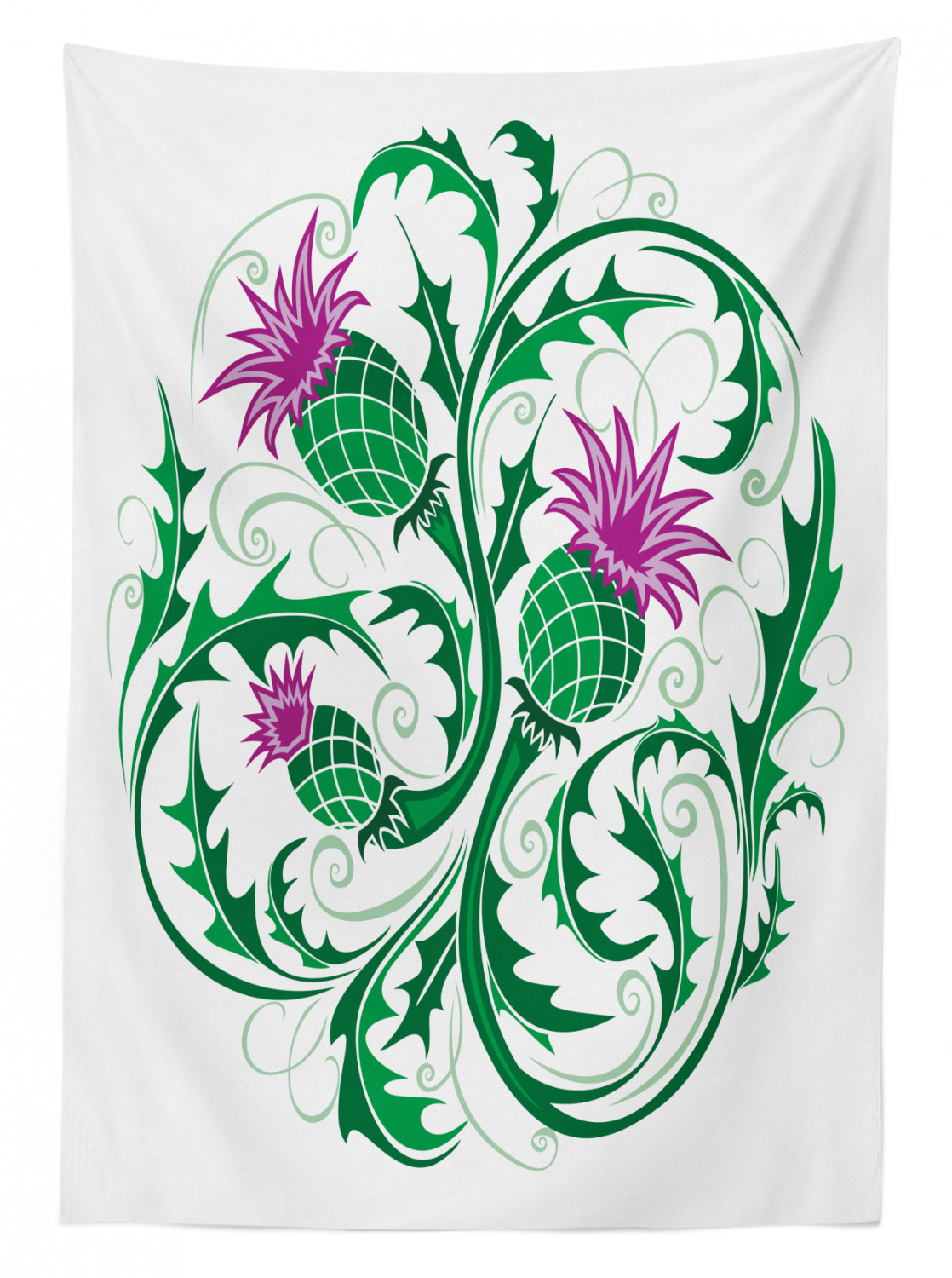 Thistle Tablecloth Ambesonne 3 Sizes Rectangular Table Cover Home Decor