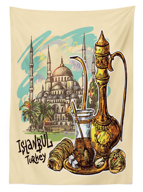 und Outdoor Bereich Istanbul Tischdecke Teekanne Süßwaren Türkisch In