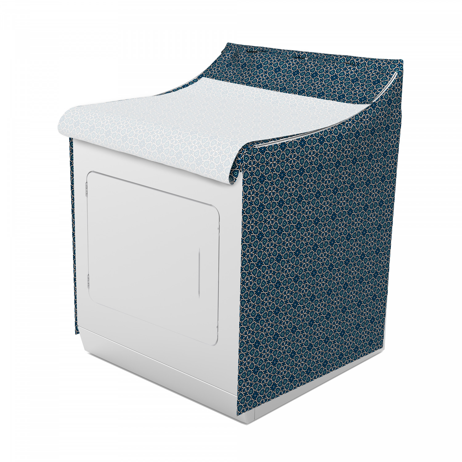 Ambesonne Print Oriental Washing Machine Cover Laundromat Decorative Accent