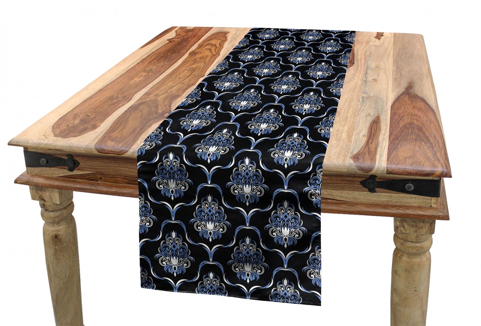 Dunkelblau Tischläufer Vintage königliche Damast