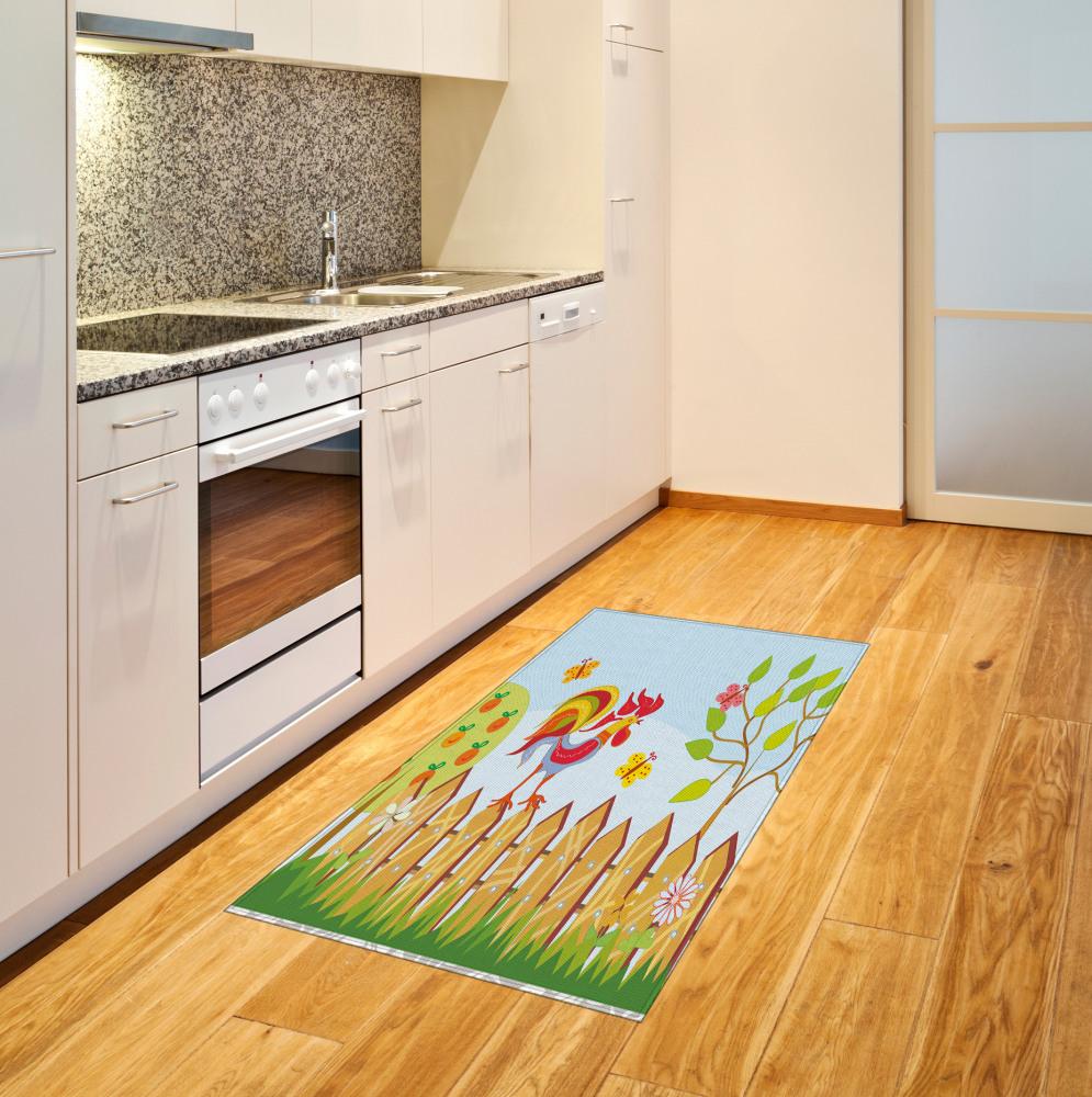 3D Flanell Rutschfeste Türmatte Küche Bodenmatte Bad Bereich Teppich Bunt Blume