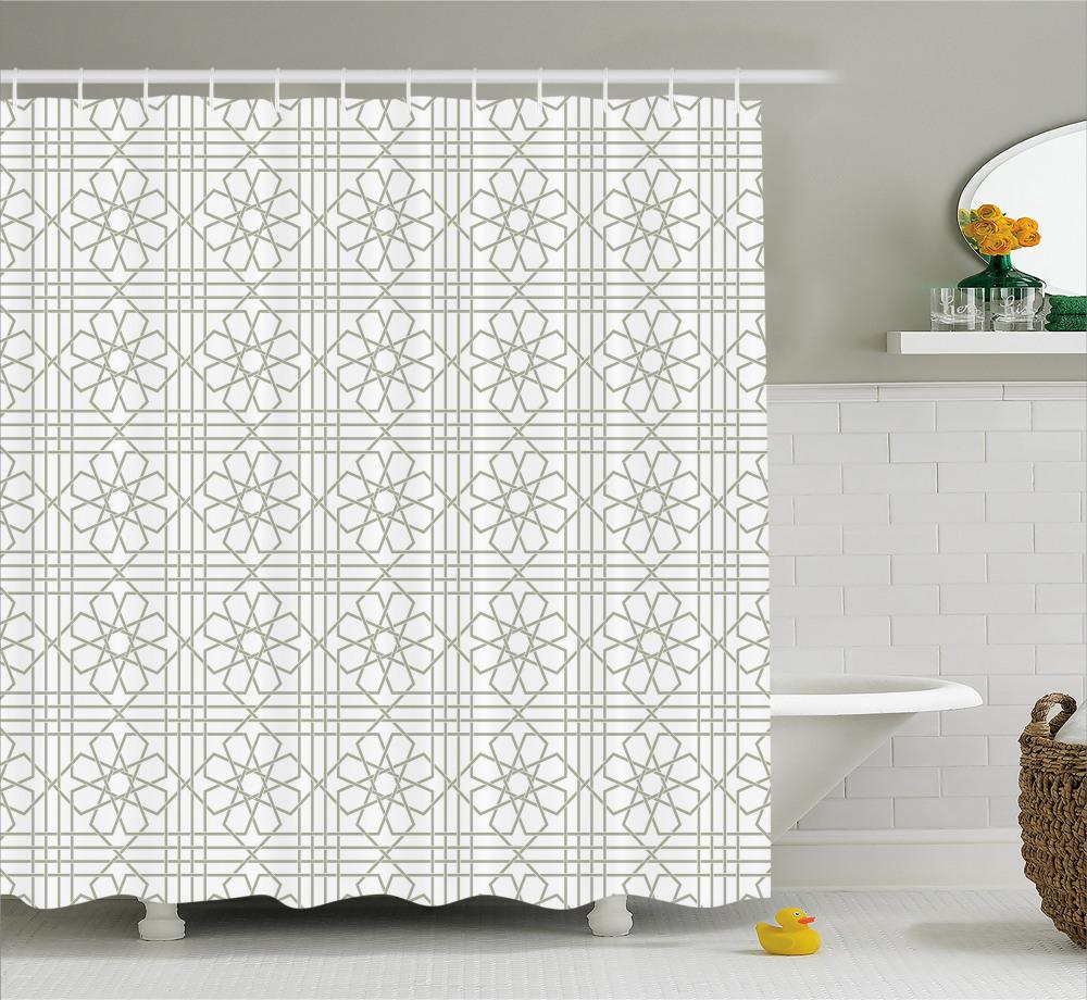 Blume Duschvorhang Arabesque Mosaik Fliesen