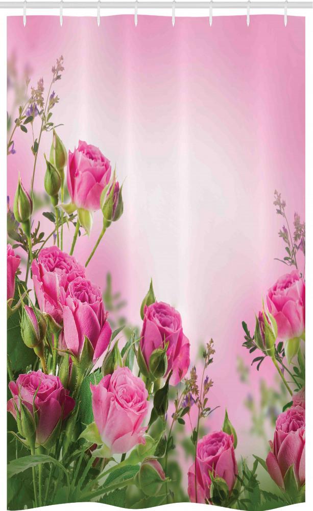 Blumen Duschvorhang Blütenblätter und Knospen