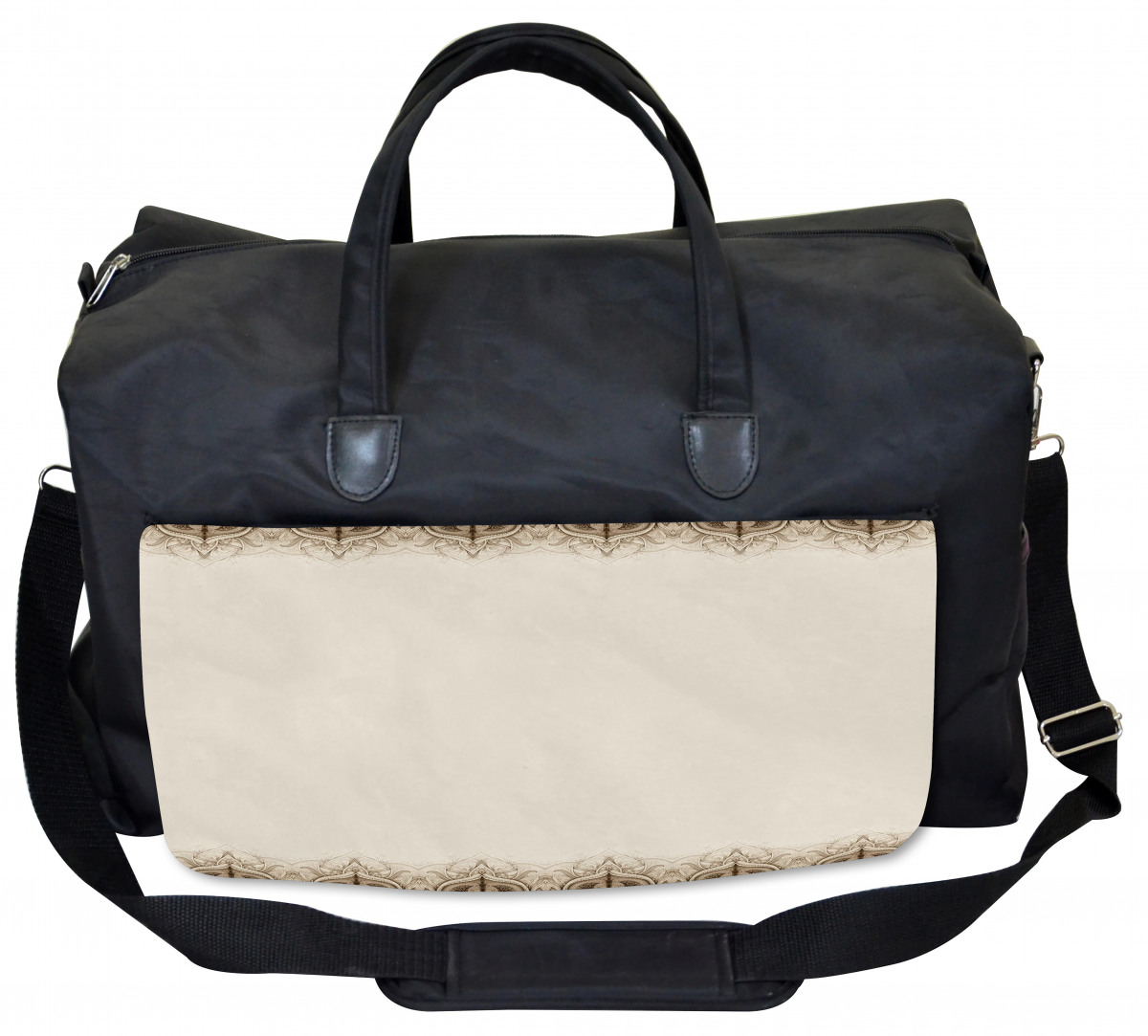 Ambesonne Colorful Gym Bag American Ethnic Bull Large Weekender Carry-on