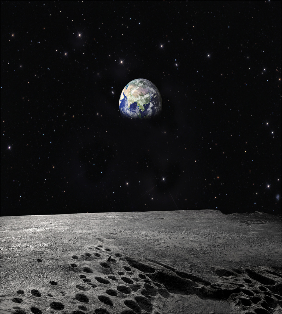 Planet Earth from Moon Duvet Cover Set