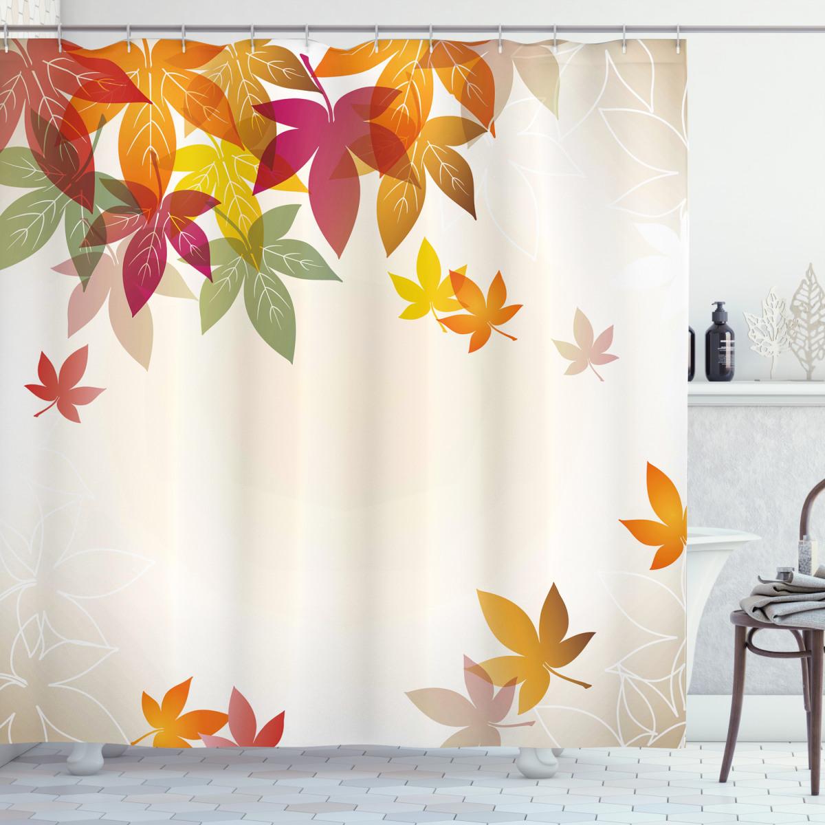 Maple Leaves Pastel Art Shower Curtain