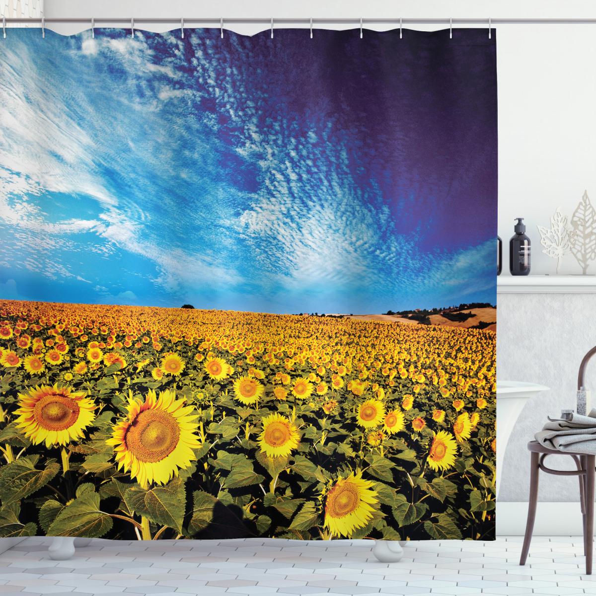 Sunflower Garden Nature Shower Curtain