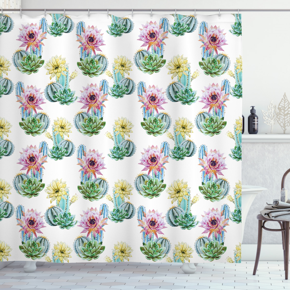 Mexican Plant Cactus Shower Curtain
