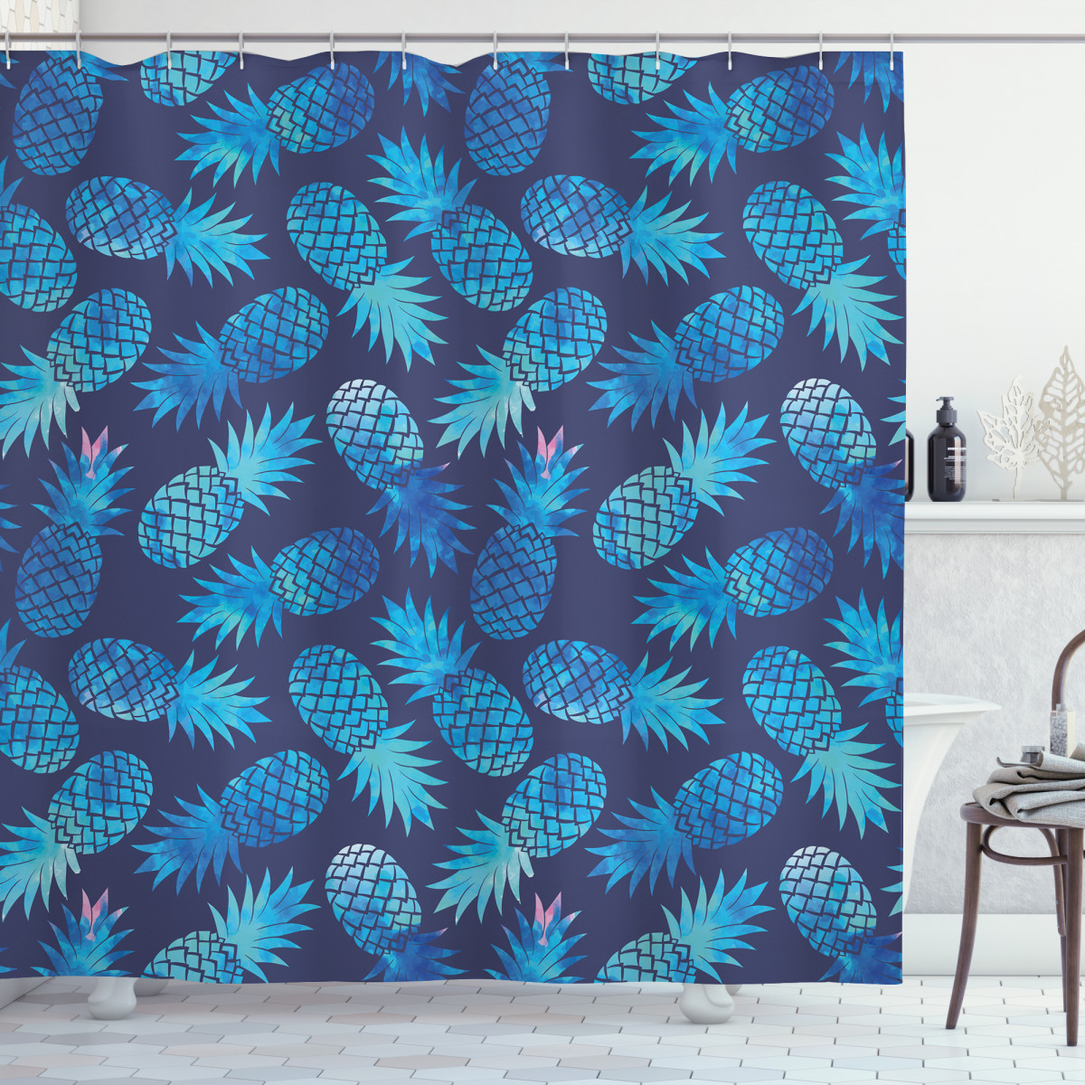 Exotic Pineapple Shower Curtain
