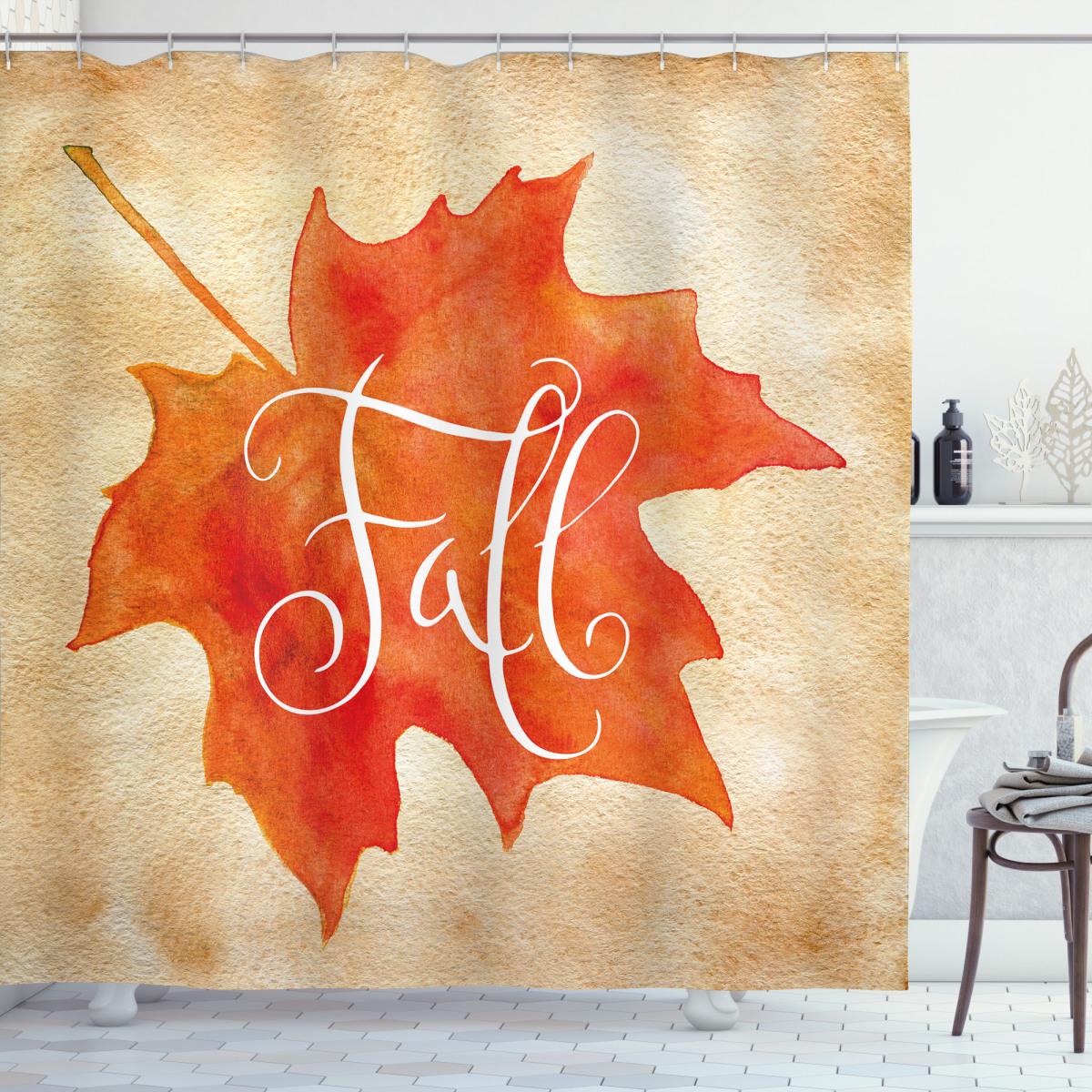 Maple Leaf Vintage Shower Curtain